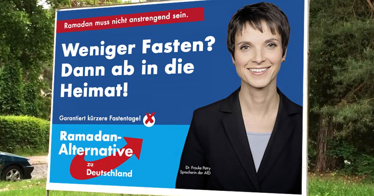 Die Heimat als Ramadan-Alternative zu Deutschland.
