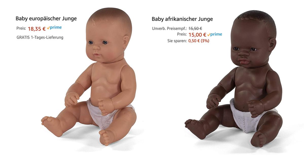Noktara - Rassismus - Weiße Babypuppe teurer als schwarze Puppe