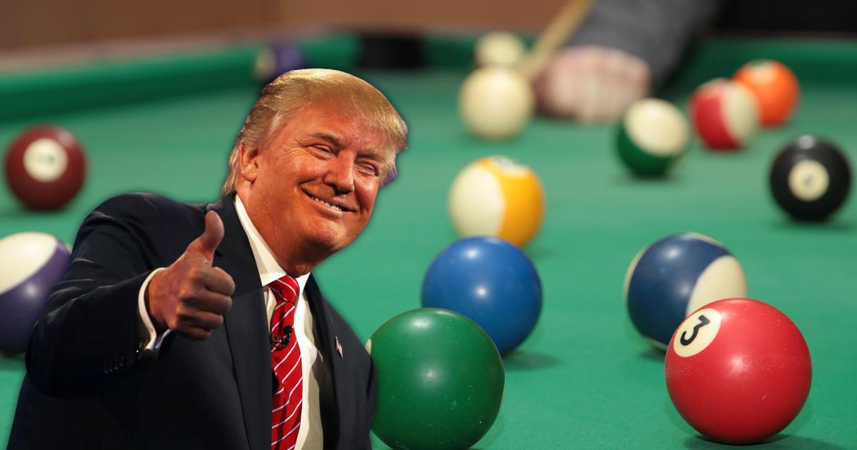 Trump: Rassistisch auf dem Billardtisch - Billard