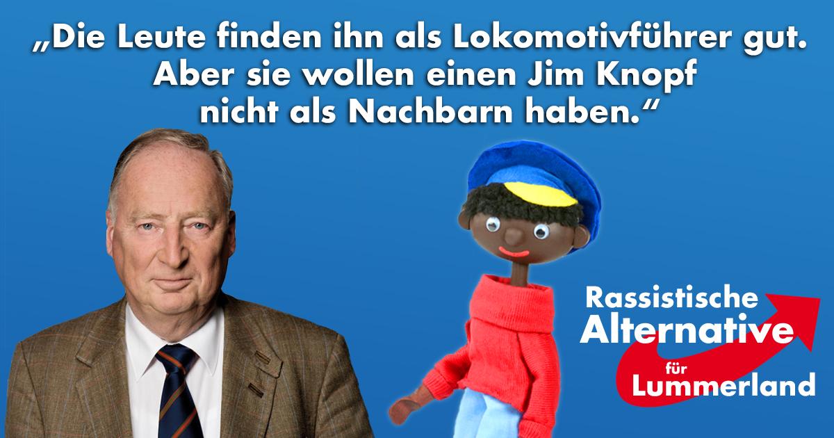 Rassistische Alternative für Lummerland: Gauland hetzt gegen Jim Knopf