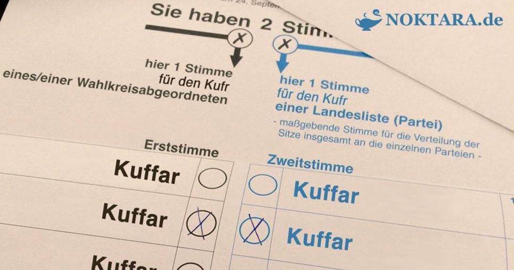 Noktara - Salafist, der Wahlen für haram hält, beschwert sich über das Wahlergebnis - Wahlzettel