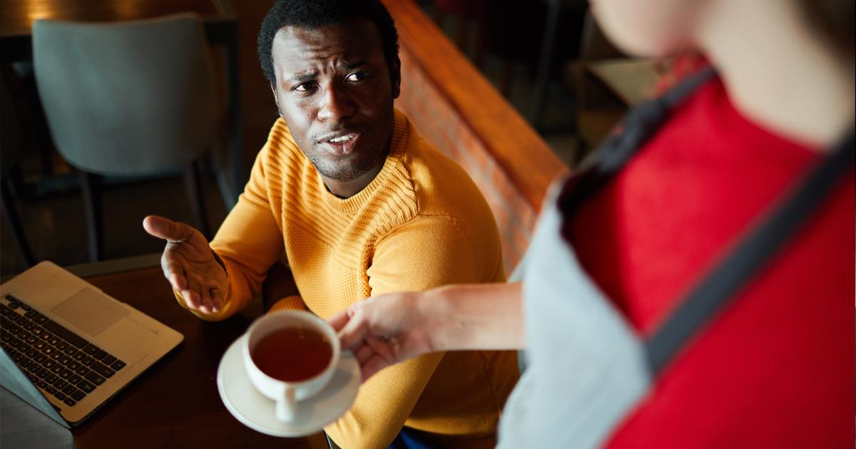 Noktara - Schwarzer Kaffee - Kunde verärgert wegen falscher Bestellung