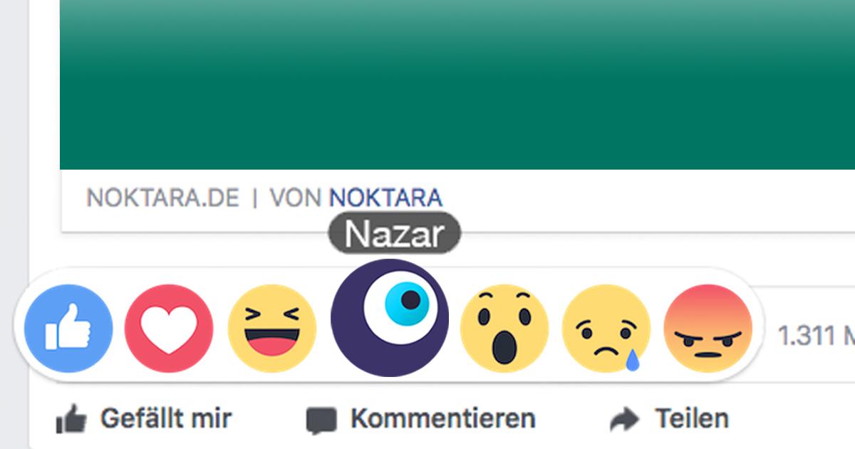 So bekommst Du das Nazar-Auge auf Facebook
