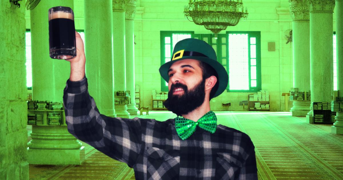 Noktara - St. Patrick's Day- Islamische Heiligtümer erstrahlen in Grün - Muslim mit Guinness