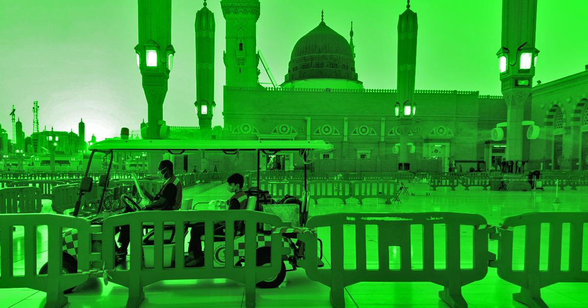 Noktara - St. Patrick's Day- Islamische Heiligtümer erstrahlen in Grün - Prophetenmoschee