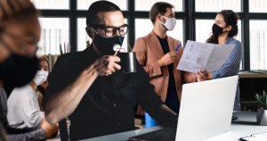 Noktara - Statt Home Office-Pflicht - Arbeitgeber verteilen FFP2-Masken mit Kaffee-Ventil