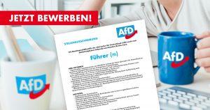 Noktara - Stellenangebot- AfD sucht neuen Führer zum nächstmöglichen Zeitpunkt - Jetzt bewerben