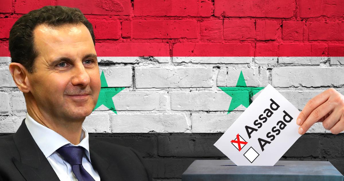 Noktara - Syrien - Machthaber Assad erzielt bei Wahl über 100 Prozent