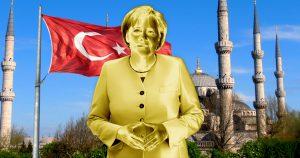 Noktara - Türkei bedankt sich für Erdogan-Statue mit goldener Angela Merkel