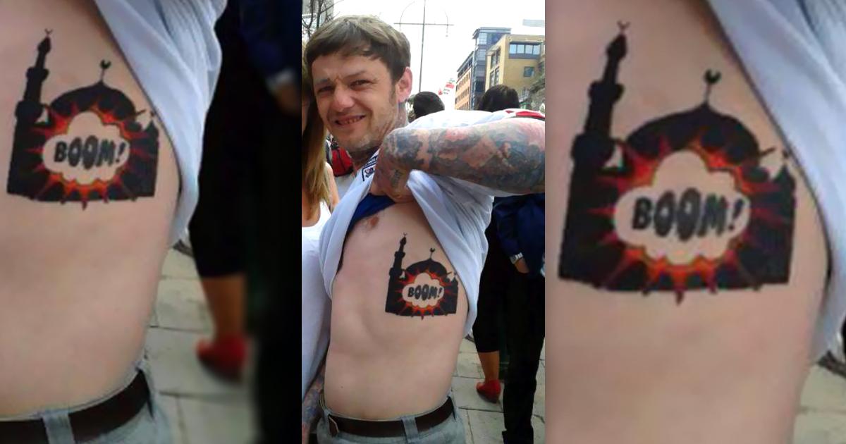 Tattoo: Nazi tätowiert sich explodierende Moschee