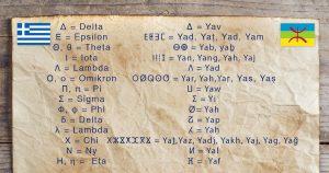 Noktara - Tifinagh - Marokkanische Berber schreiben griechisches Alphabet ab
