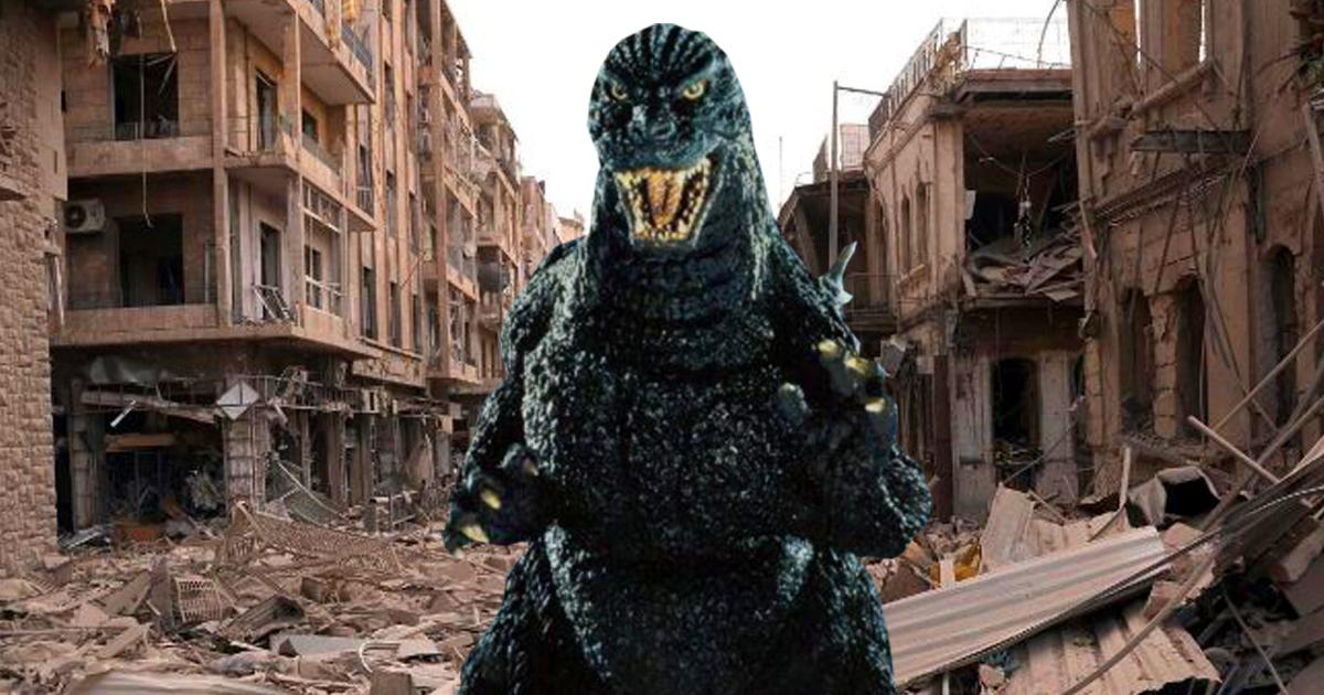 Trümmerhaufen: Godzilla arbeitslos in Syrien