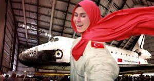 Noktara - Türkei schießt erste Frau mit Kopftuch auf den Mond