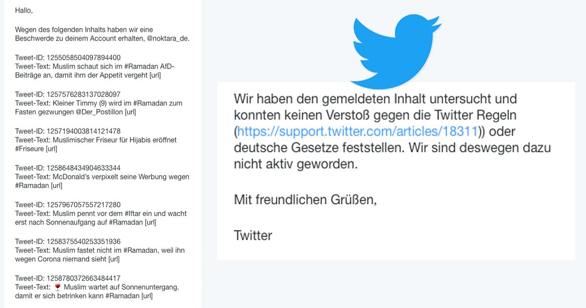 Noktara - Twitter-Sperre - Unterstütze die Petition zur Entsperrung von Noktara - Kein Verstoß