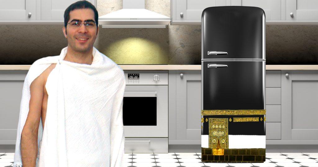 Noktara - Typ malt Kühlschrank an und macht seine Hadsch in der Küche