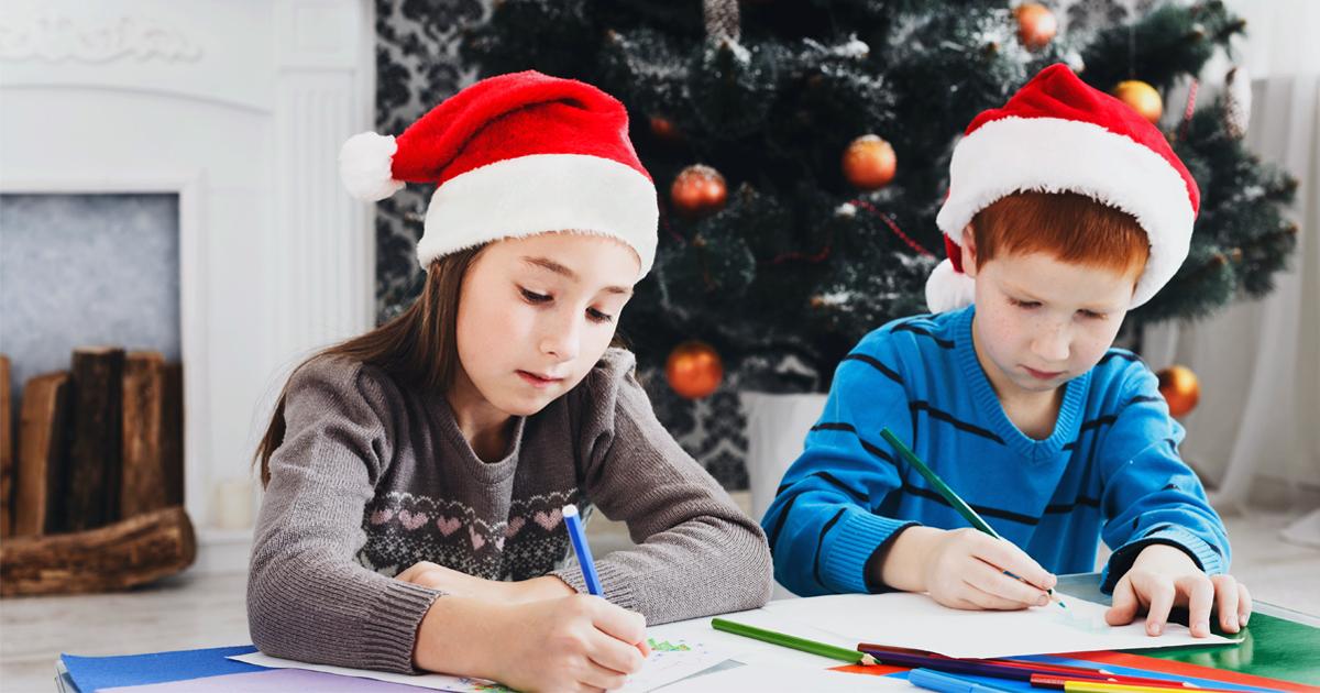 Noktara - Unartige Kinder mahnen Weihnachtsmann wegen DSGVO-Verstoß ab - Kinder setzen Abmahnung auf