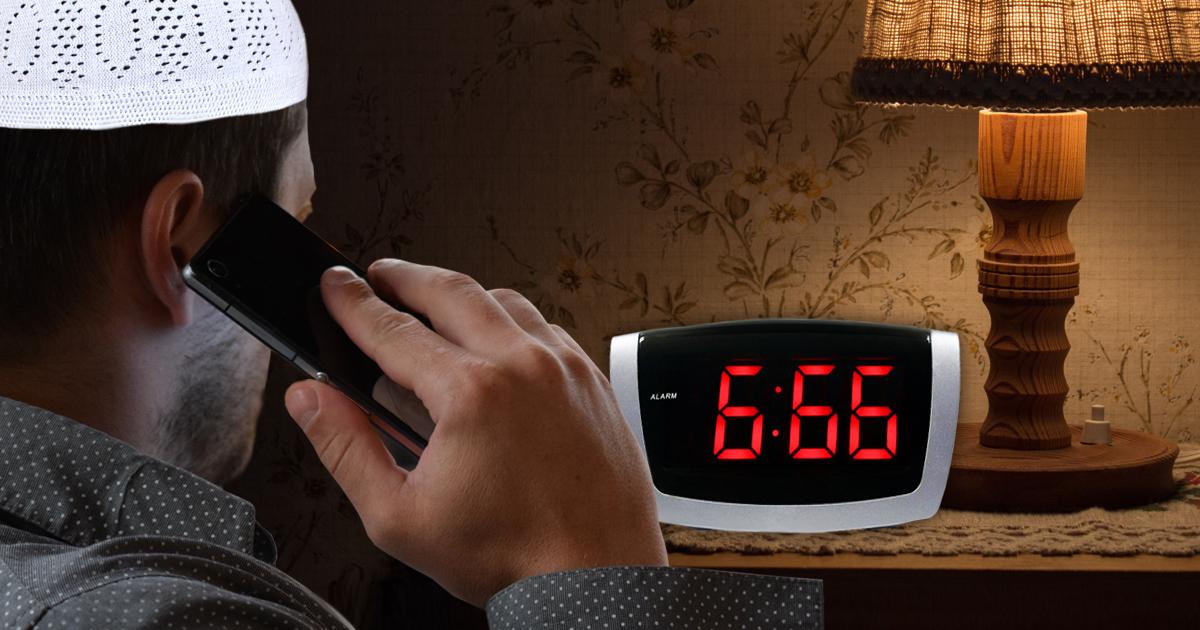 Unchristliche Zeit: Muslim ruft um 6:66 Uhr an