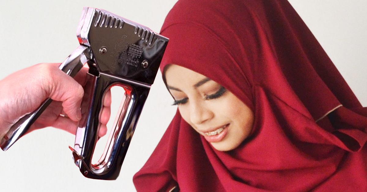 Unwetterwarnung: 7 muslimische Überlebenstricks gegen den Orkan - Tacker dein Kopftuch fest