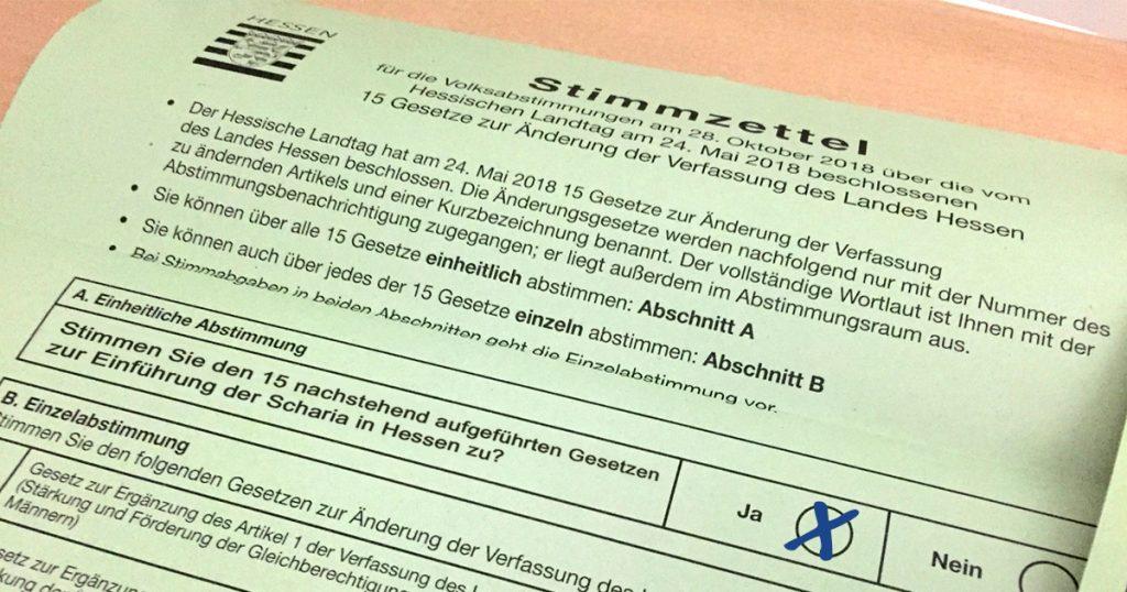 Noktara - Volksentscheid - Mehrheit stimmt für Einführung der Scharia