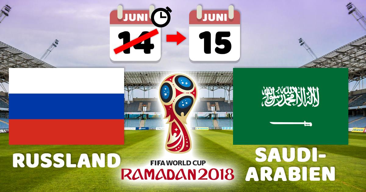 WM 2018: FIFA verschiebt Eröffnungsspiel wegen Ramadan