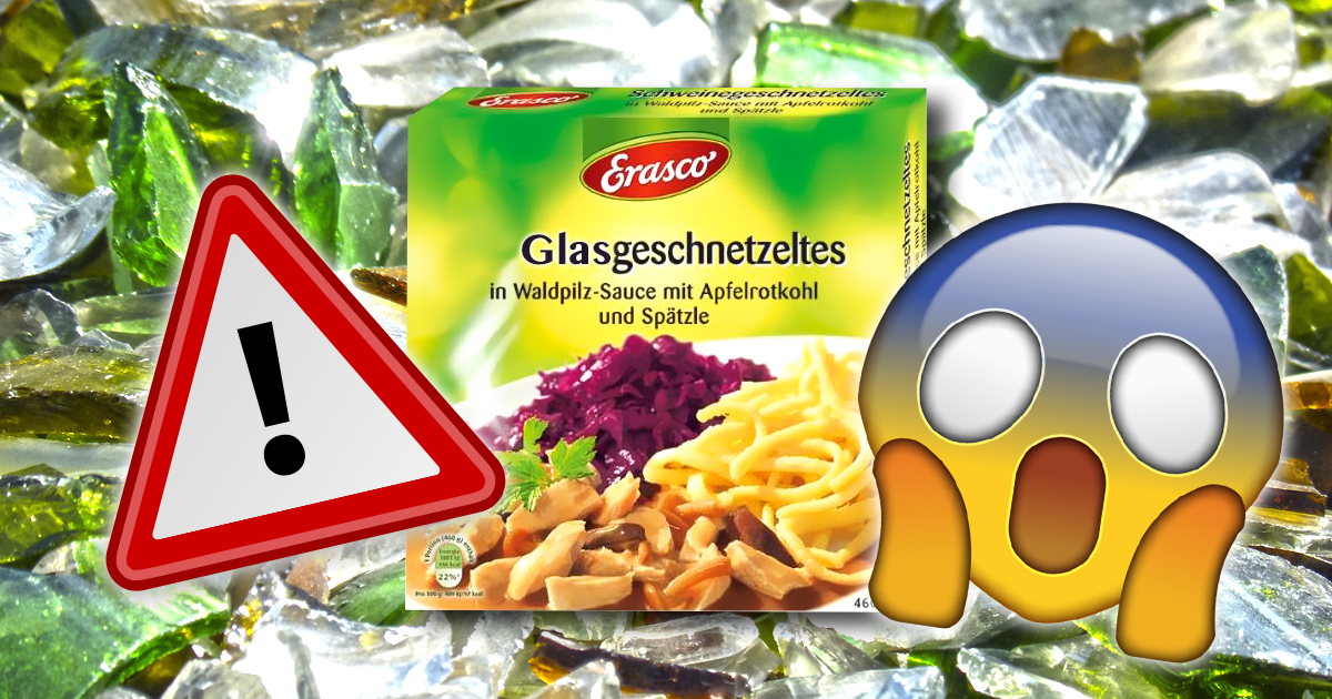 Warnung: Erasco Glasgeschnetzeltes kann Schweinefleisch enthalten