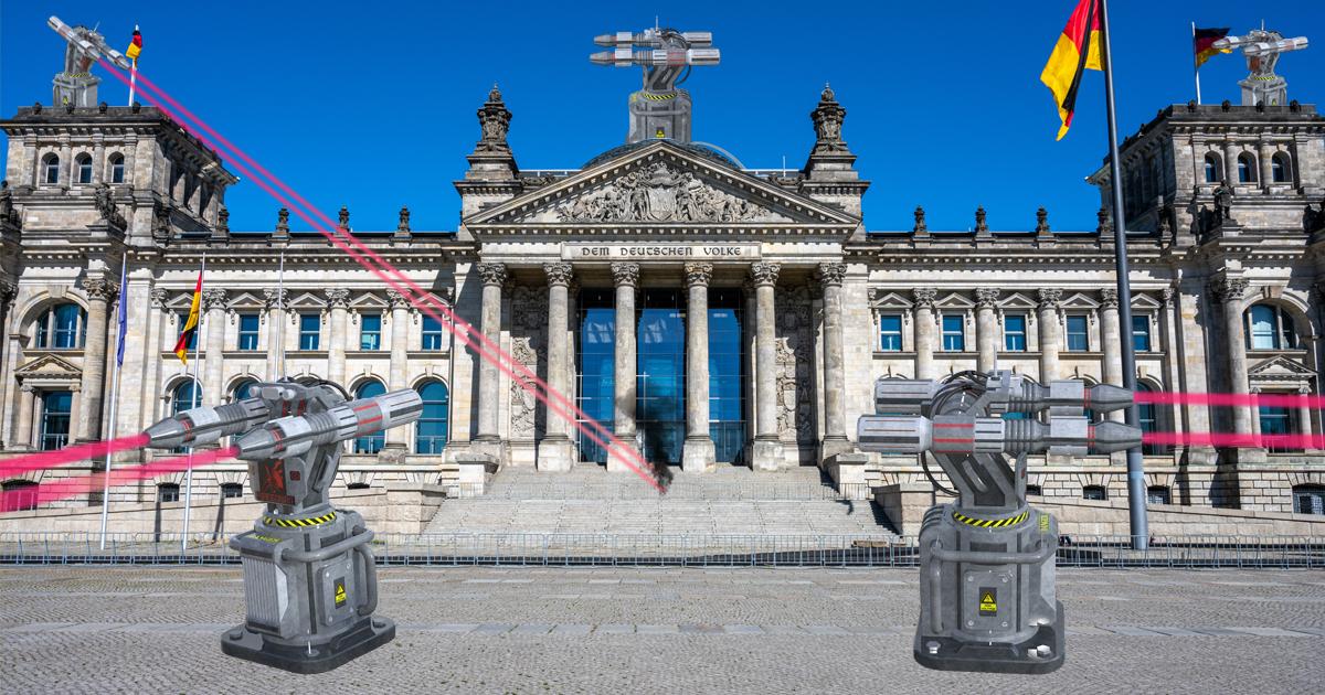 Noktara- Wehrhafte Demokratie- Reichstag erhält Laser-Abwehrsystem
