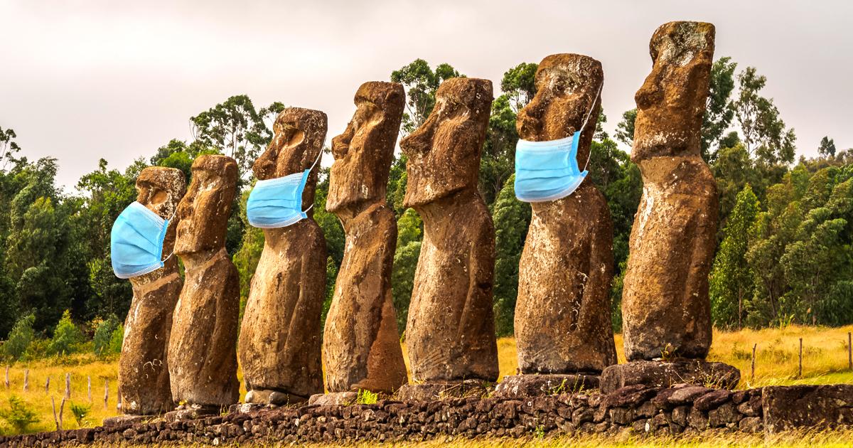 Noktara - Weiterhin unklar, wie sich Coronavirus auf Osterinsel verbreiten konnte - Moai Maskenmuffel