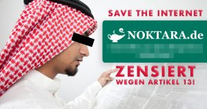 Noktara - Zensur - Noktara wegen Jubiläum von Artikel 13 betroffen