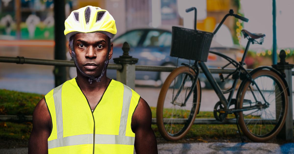 Noktara - Zwecks besserer Sichtbarkeit - ADAC empfiehlt Warnwesten für schwarze Radfahrer