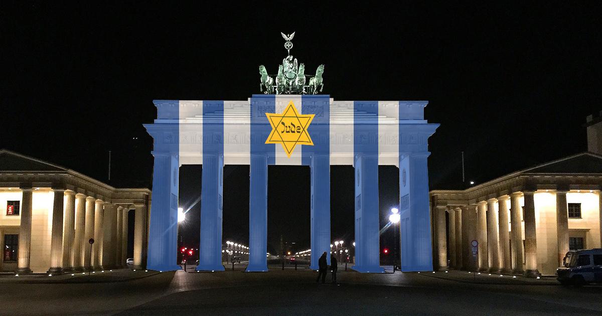 Eklat: Falsche Flagge auf Brandenburger Tor projiziert